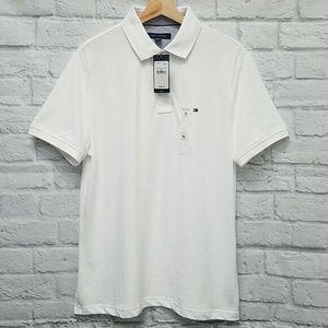 NWT Tommy Hilfiger Pique Polo Shirt Mens M A1C